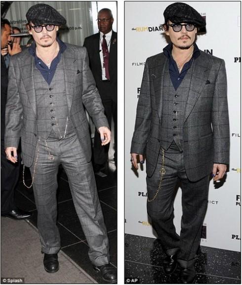 Джонни Депп на кинопремьере в Нью-Йорке
