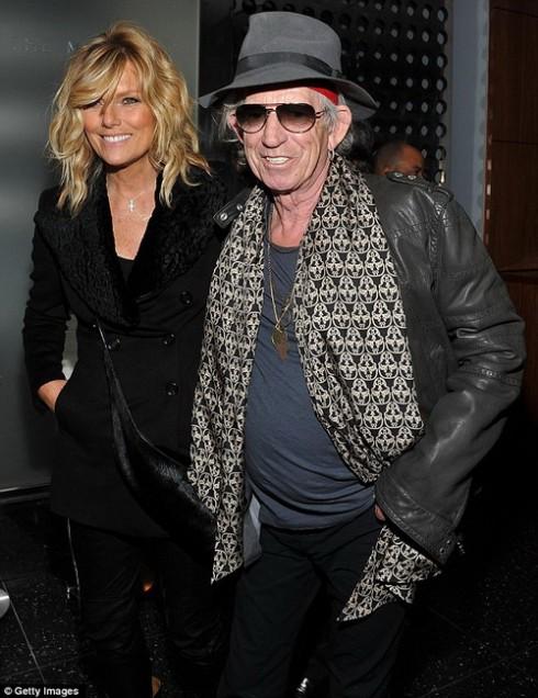 Кит Ричардс с супругой Патти Хансен на премьере фильма Ромовый дневник в Нью-Йорке