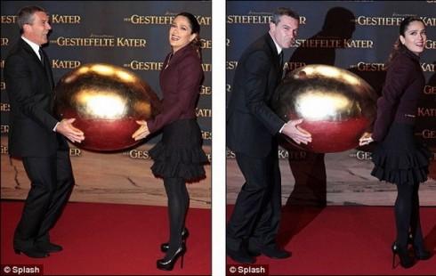 Сальма Хайек и Антонио Бандерас: украдем яйцо.