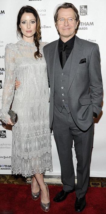 Гэри Олдман с супругой Александрой