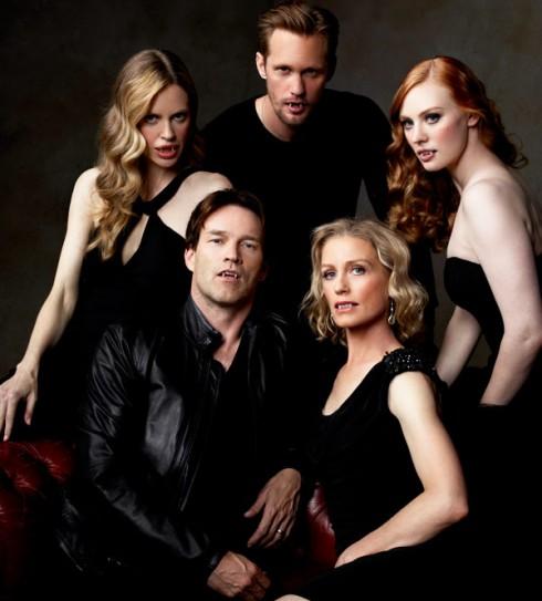 Вампиры сериала Настоящая кровь: Пэм, Эрик, Джессика, Билл, Нэн.