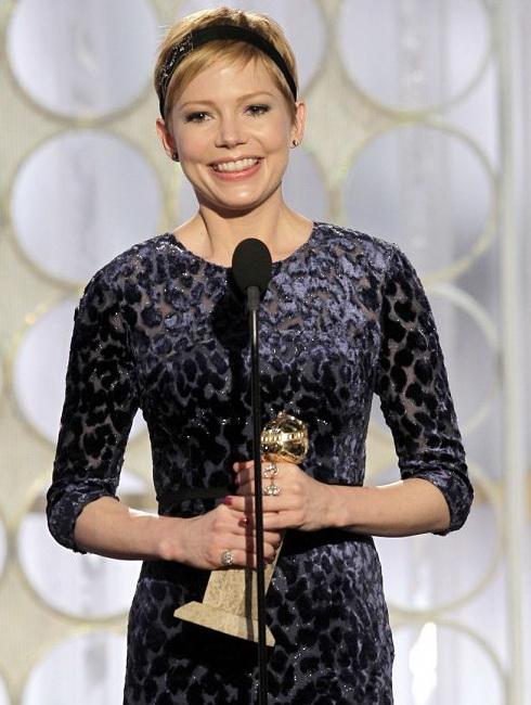 Мишель Уильямс -лауреат премии Золотой Глобус 2012