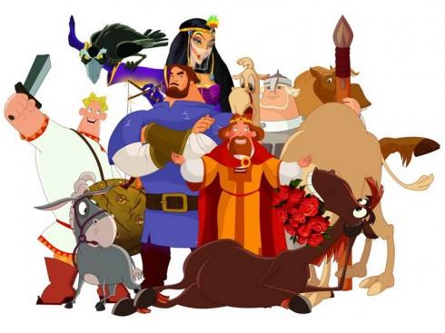 Три богатыря и Шамаханская царица - герои мультфильма