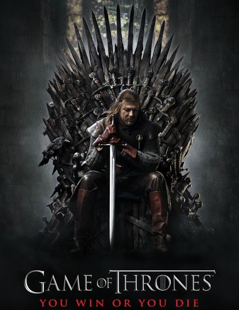 Игра престолов (Game of Thrones). Постер к первому сезону сериала.